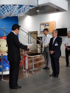 7月7日(金)に天文科学館で寄贈式が行われました